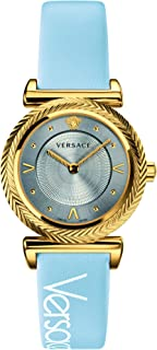 Versace Ladies Watch Quartz leatherstrap VERE00318