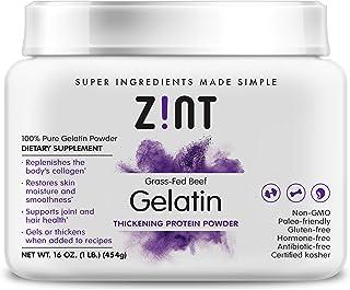 Zint Grass-Fed Beef Gelatin Protein Powder Pouch & Tubs