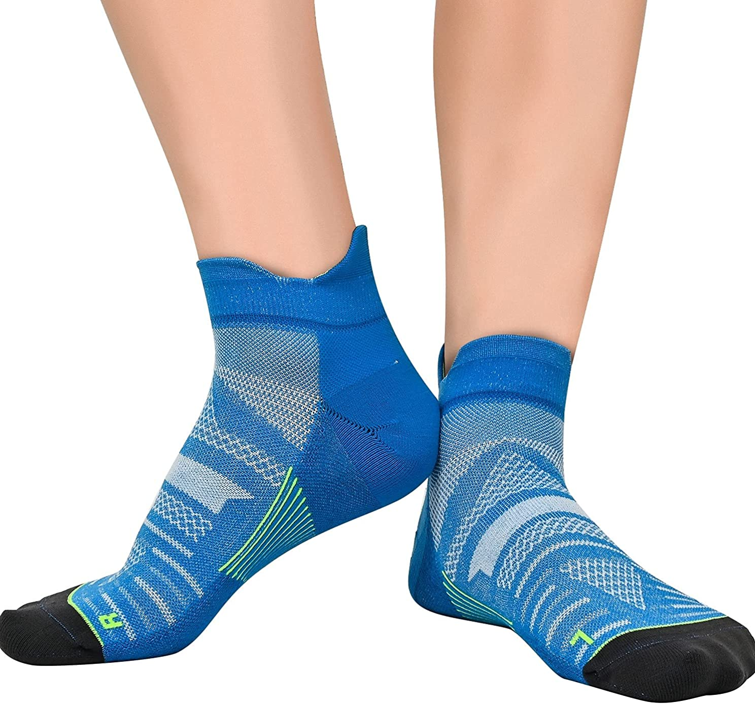 Compression Coolmax Athletic Ankle Running Socks Wicking Anti-Odor Seamless Plantar Fasciitis With Arch Support 1/3 Pack : Sports & Outdoors