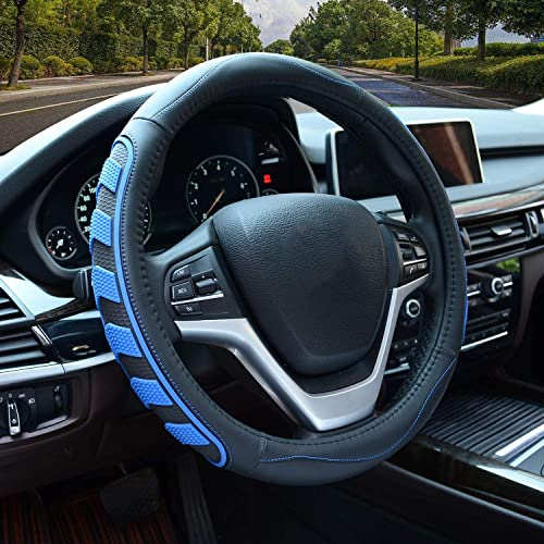 high quality Car Steering Wheel Cover with Durable PU Leather, Universal 15 high quality inch Fit for sale Car Truck SUV, Breathable Anti Slip Auto Steering Wheel Covers for Men and Women, Blue online sale