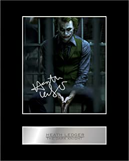 Heath Ledger, The Joker Signed Mounted Photo Display The Dark Knight #01 Autographed Gift Picture Print
