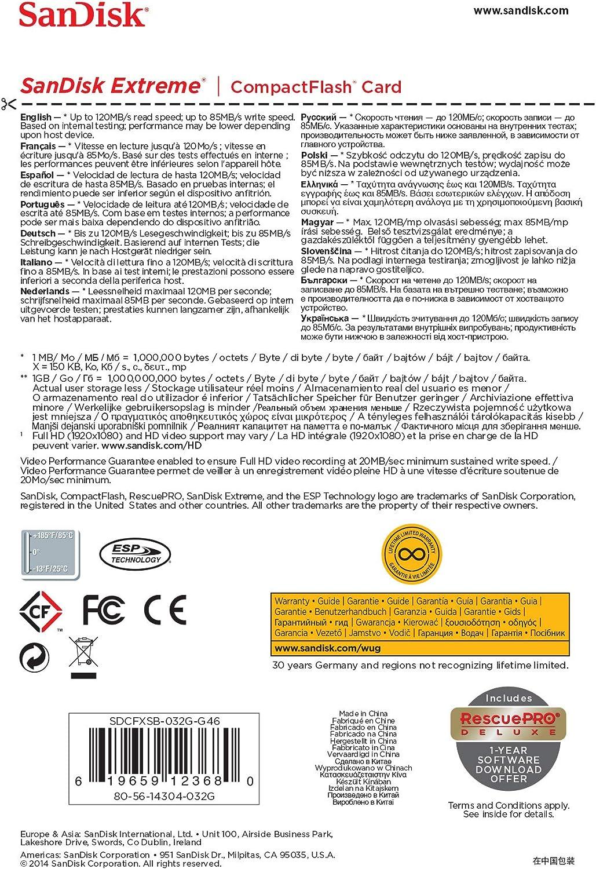 Sandisk Extreme Compactflash Udma7 32gb Bis Zu 120 Mb Computer Zubehör