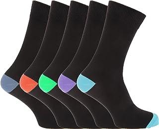 Pierre Roche - Calcetines para hombre caballero alto porcentaje en algodón (Pack de 5 pares)