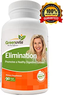 Greenuvite Elimination Detox & Colon Cleanse - a Complete Weight Loss and Digestive Support - Contains Wormwood Black Walnut Garlic Aloe Vera, 90 Caps.