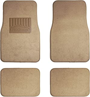 FH Group F14402 Premium Carpet Floor Mats with Heel Pad, Beige Color- Fit Most Car, Truck, SUV, or Van