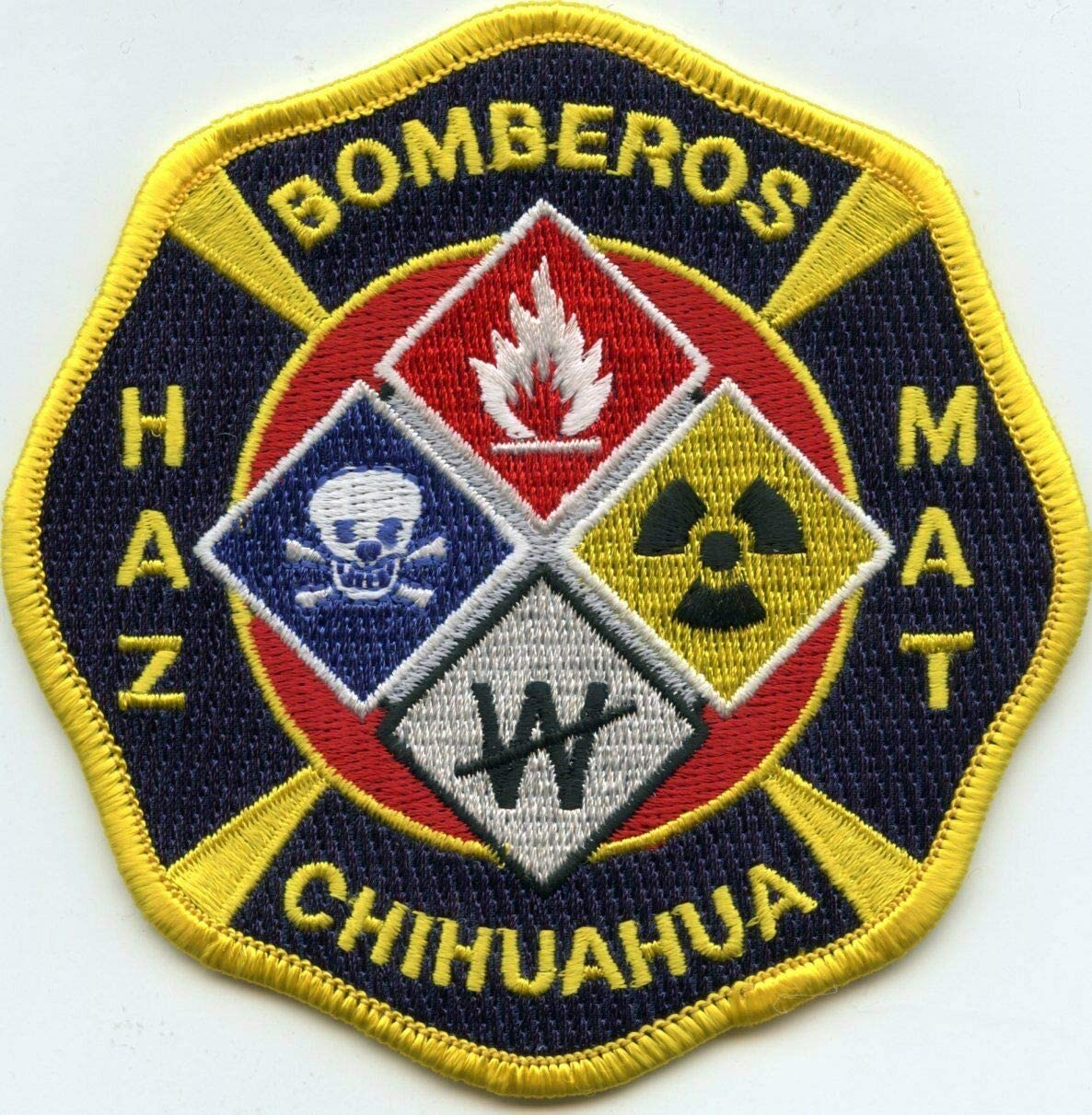 by SFI Chihuahua Mexico New product Trust type HAZ Patch BOMBEROS FIRE MAT