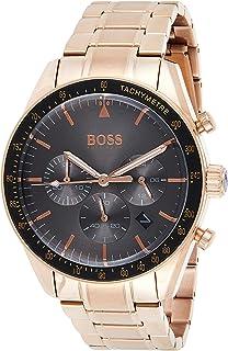 Hugo Boss Hommes Chronographe Quartz Montre avec Bracelet en Or Rose 1513632