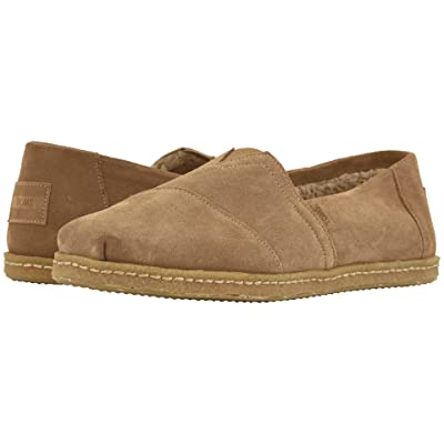 TOMS Venice Collection Alpargata (Toffee Suede w/ Shearling on Crepe) Men