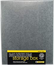 Lineco 8x10 Blue/Gray Drop Front Archival Storage Box. Acid-Free w/Metal Edge. Lignin-Free. Protects Documents and Prints from Fade or Discolor; Picture Longevity, Crafts, DIY. 733-0008