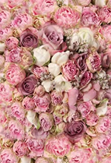 Konpon 150x 220cm, color rosa flores algodón