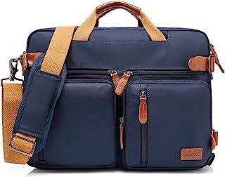 CoolBELL Convertible Backpack Messenger Bag Shoulder Bag Laptop Case Handbag Business Briefcase Multi-Functional Travel Rucksack Fits 15.6 Inch Laptop for Men/Women (Blue)