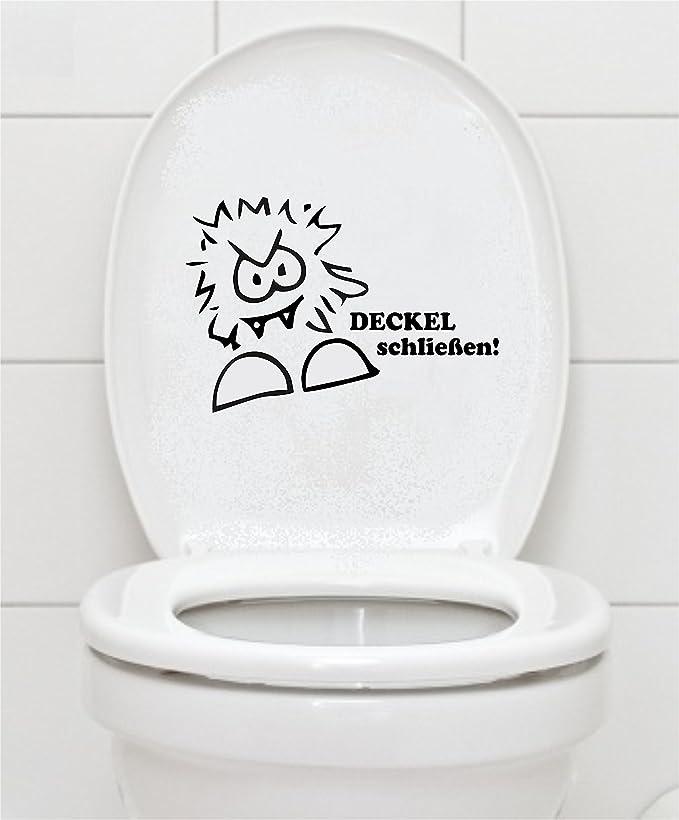 wc-gestalten.de WC-Sitz Aufkleber Achtung Absenkautomatik Bitte den Deckel Nicht runter dr/ücken.
