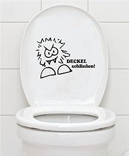 Lustiger Toilettendeckel Aufkleber zerdr/ückte Katze Klo Sticker Aufkleber Toiletten Deckel Fun Wandsticker