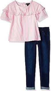 U.S. Polo Assn. 女童时尚上衣和裤子套装
