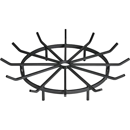 SteelFreak Wagon Wheel Firewood Grate for Fire Pit - Made in The USA (32 Inch)