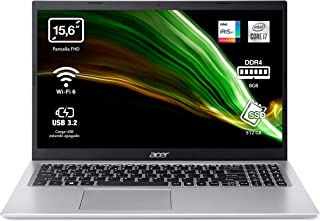 "Acer Aspire 5 A515-56 - Ordenador Portátil 15.6"" Full HD, Laptop (Intel Core i5-1135G7, 8GB RAM, 512GB SSD, UMA Graphics, ..."