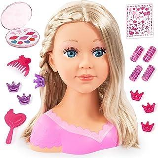 Bayer Design - Charlene Super Model, Busto muñeca para peinar y maquillar con accesorios