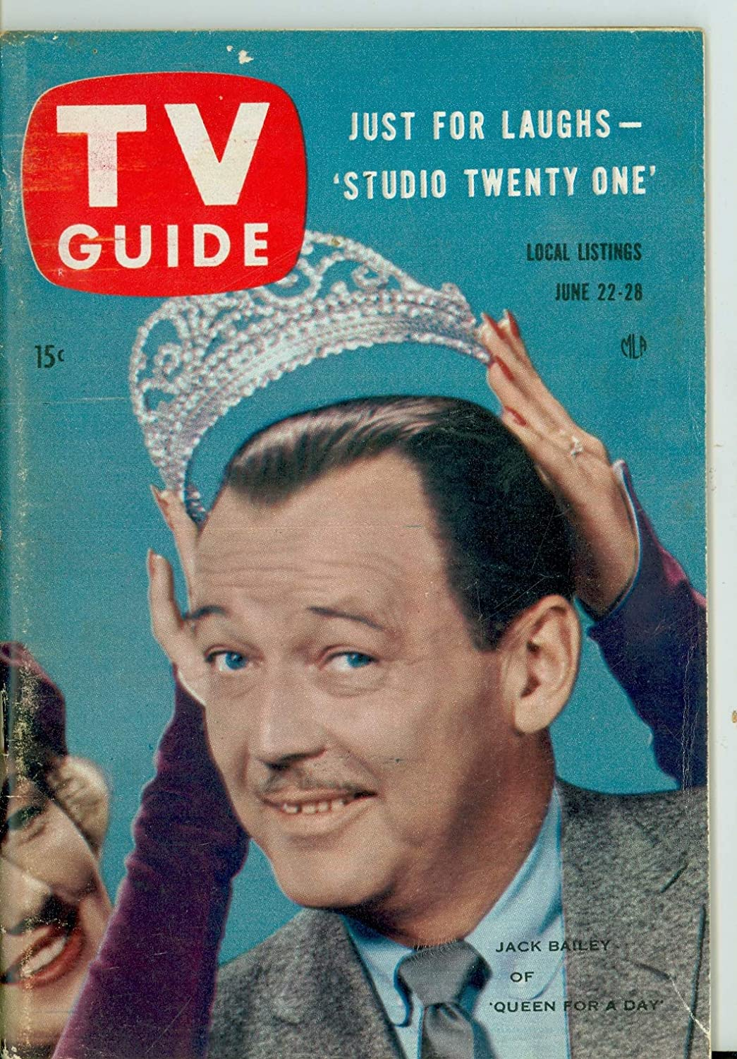 1957 Max 64% OFF TV Guide Jun 22 Jack Bailey of 2021new shipping free shipping a for Queen Day - Illinois E