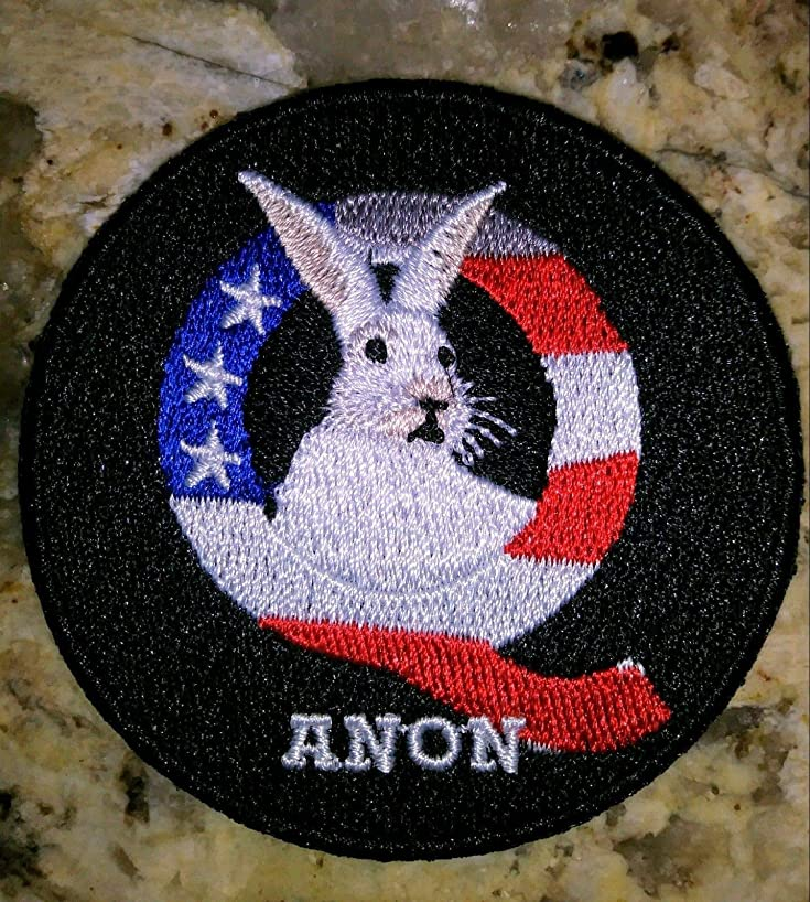 QANON IRON ON EMBROIDERED PATCH Q ANON 2.5