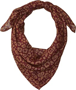 Two-Tone Leopard Print Neckerchief