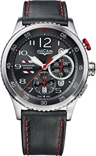 Vulcain Aviator Instrument Chronograph Men's Grey Dial Swiss Automatic Watch 590163A17.BFC006
