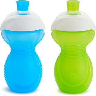 Munchkin Click Lock Chew Proof Sippy Cup, Blue/Green, 10 oz/296 ml, 2 Pack