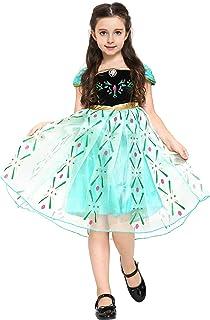 5c6b24bfcc62f Katara - Robe de Déguisement Princesse Anna La Reine des Neiges - Costume  pour Filles Princesse