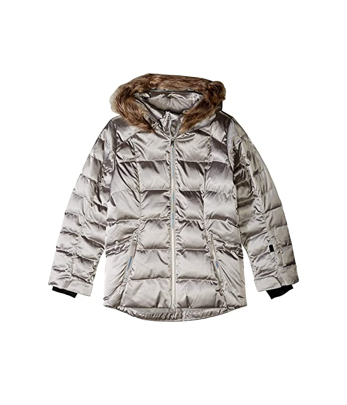 Atlas Synthetic Down Jacket (Big Kids) (Silver) Girl's Clothing