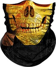 Obacle Face Mask for Sun UV Dust Wind Protection Tube Mask Bandana Skeleton Face Mask Headwear for Men Women Bike Motorcycle Riding Cycling Fishing Hunting Outdoor Festival Skull Clown Flag Patterns