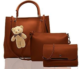 Fargo Women's Handbag (Set of 3, Brown)