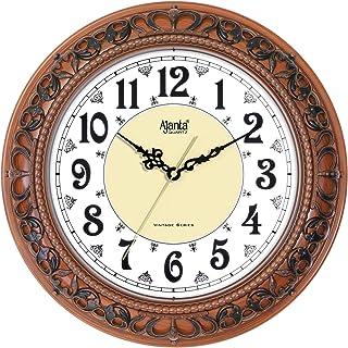 Ajanta Quartz Plastic Silent Sweep Movement Vintage 12 Inches Wall Clock (Teak)