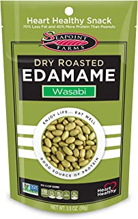 Seapoint Farms Wasabi Dry Roasted Edamame, Healthy Gluten-Free Snacks, 12-Pack, 3.5 Ounce (Pack of 12)