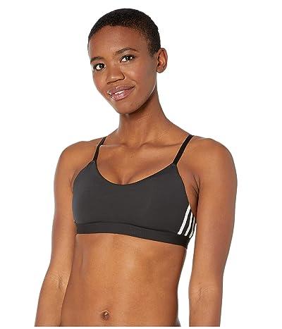 adidas All Me Stripe Bra (Black/White) Women