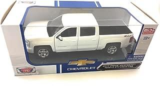 Motormax 2017 Chevy Silverado 1500 LT Z71 Crew Cab Pickup Truck 1/24 Scale Diecast Model Car White