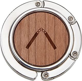 Nunchucks Wooden Purse Hanger, Purse Hook, Handbag Hanger, Table Hanger, Foldable And Travel Friendly