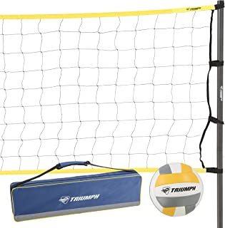 Triumph Classic Volleyball Set - Includes Regulation Size Volleyball, Pump and Padded Carry Case