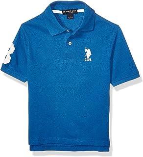Boys' Short Sleeve Marled Pique Polo Shirt