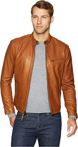 Café Racer Leather Jacket