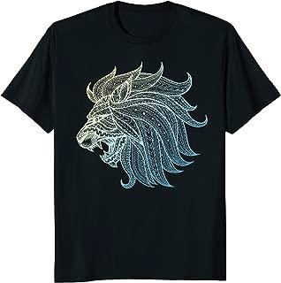 Tribal Lion Tattoo Style African Art Profile Lion T-Shirt