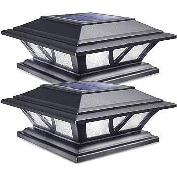 GTX Solar LED Post Lights 4 Pack Garden//Fence//Deck//Garage//Patio Lighting