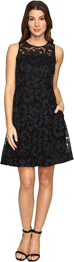 Sleeveless Fit and Flare with Full Skirt