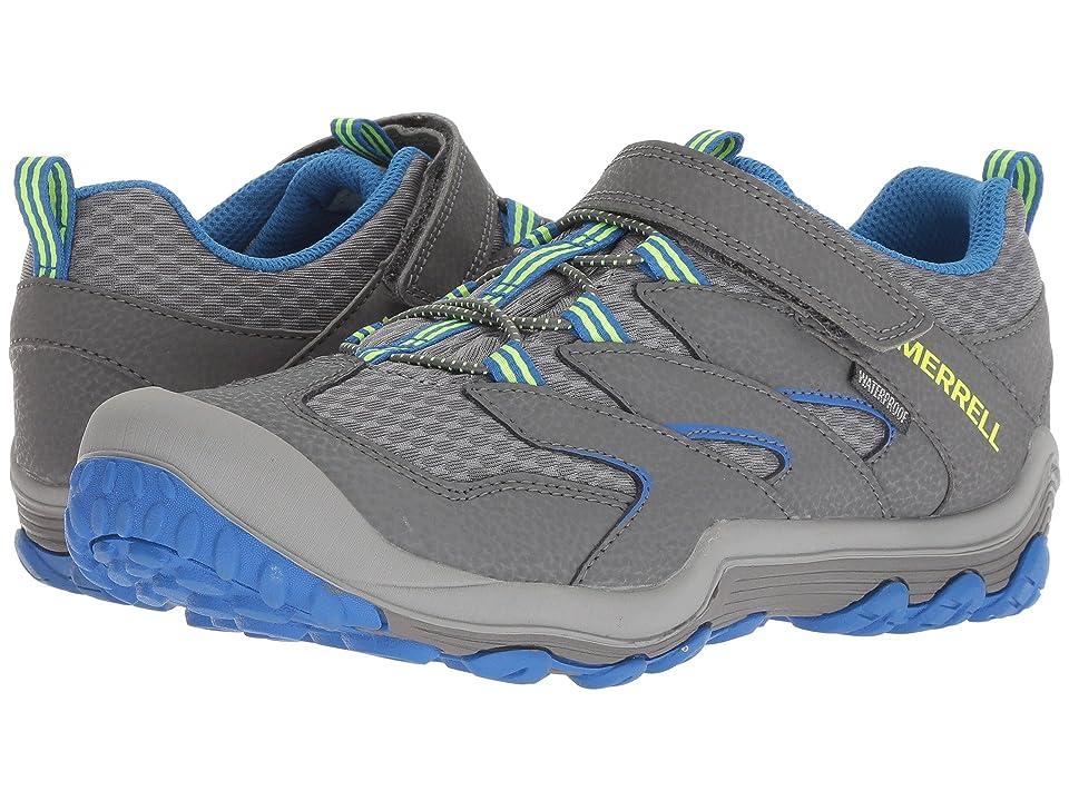 Merrell Kids Chameleon 7 Access Low A/C Waterproof (Big Kid) (Grey/Blue) Boys Shoes