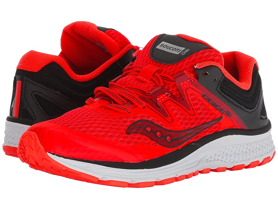 Saucony Kids Guide ISO (Little Kid/Big Kid) (Vizi Red/Black) Boys Shoes