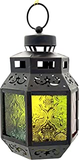 Willsea Ramadan Lanterns Candle Holders Arabic Eid Mubarak for Wall Hanging with Moroccan Style Candle Lantern for outdoor...