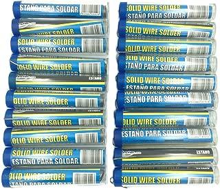 BRUFER 213161 Rosin Core Solder, 60-40 1.0mm Tin Lead Solder Wire for Electrical Soldering 16g - BULK PACK OF 20 TUBES