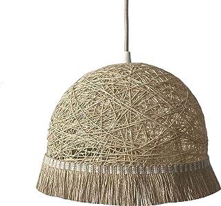 Lámpara FRINGES beige - lámpara decorativa de techo estilo Boho