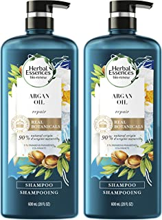 Herbal Essences, Shampoo, BioRenew Argan Oil of Morocco, Safe for Color Treated Hair, 20.2 fl oz, Twin Pack
