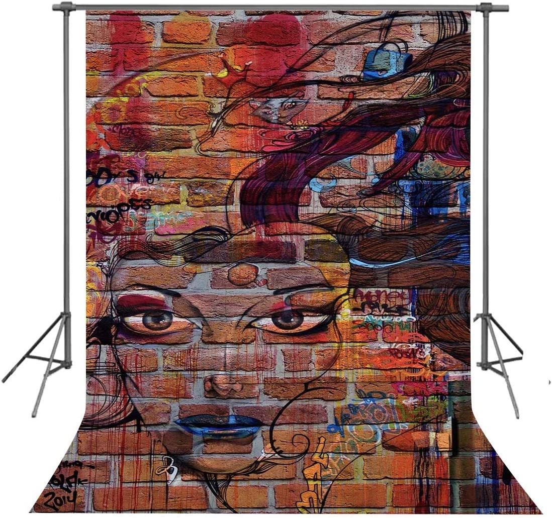 15x10ft Graffiti Wall Background Street Car Photography Backdrop Photo Studio Props LHFU582