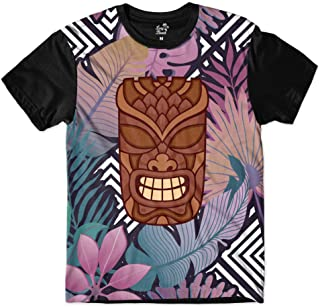 Camiseta Long Beach Totem Floral Misterio Sublimada Colors
