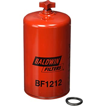 Baldwin BF1212 Heavy Duty Diesel Fuel Spin-On Filter, Red